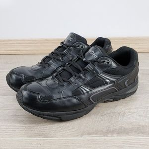 Mens Vionic Black Walker Walking Comfort Sneaker